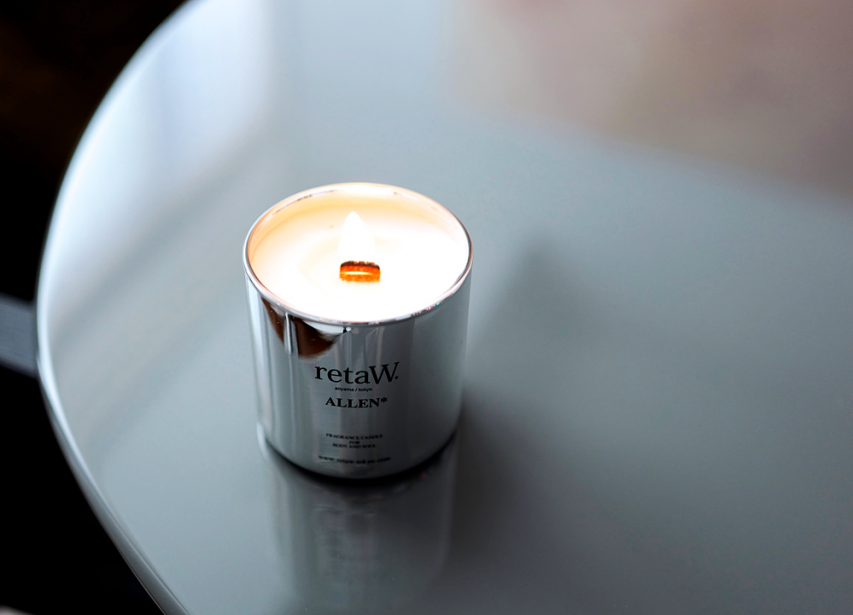 retaW Metallic Fragrance Candles