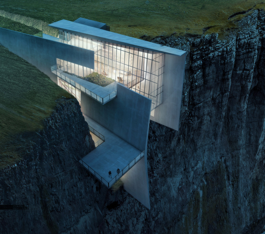 ICELAND CLIFFSIDE RETREAT by Alex Hogrefe