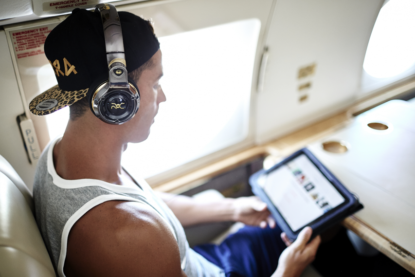 Cristiano Ronaldo x Monster present ROC Headphones