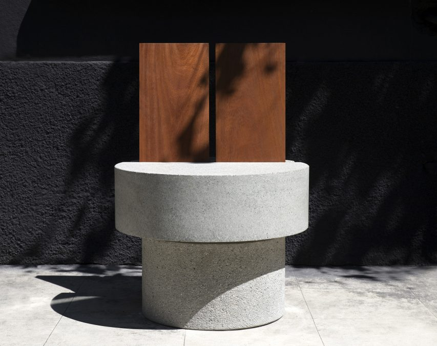 The Iroko Concrete Chair